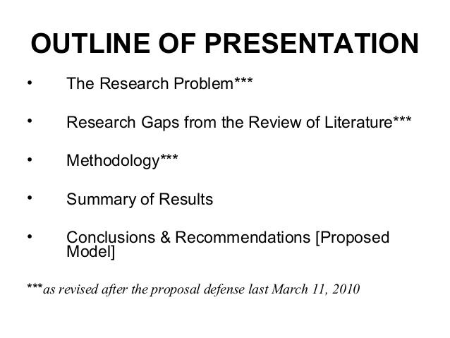 Dissertation defense presentation economics