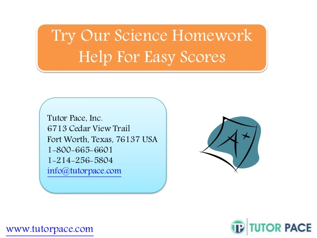 Homework help in science